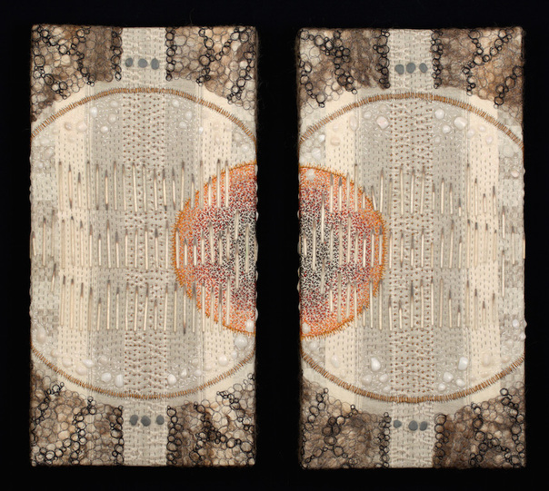 Amy Meissner, textile artist | Reliquary #11: Halo, 2015 | Reliquary Series | www.amymeissner.com