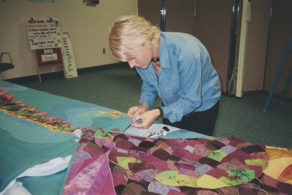 Amy Meissner, textile artist | From the post How to raise a dragon. | www.amymeissner.com/blog/how-to-raise-a-dragon