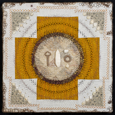 Amy Meissner, textile art | Reliquary #6: Key, 2015 | Reliquary Series | www.amymeissner.com