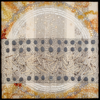 Amy Meissner, textile artist | Reliquary #12: Ichor, 2015 | Reliquary Series | www.amymeissner.com