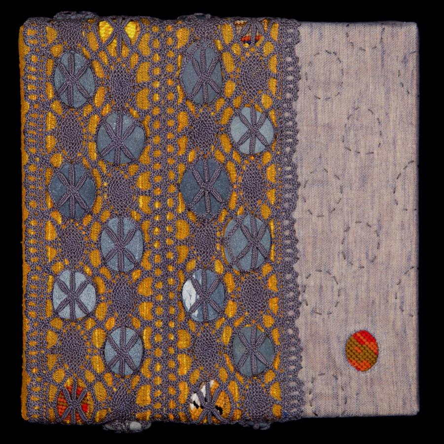 Amy Meissner, textile artist. | Fossil Series | From the post, A history of treasure. | www.amymeissner.com/blog/a-history-of-treasure