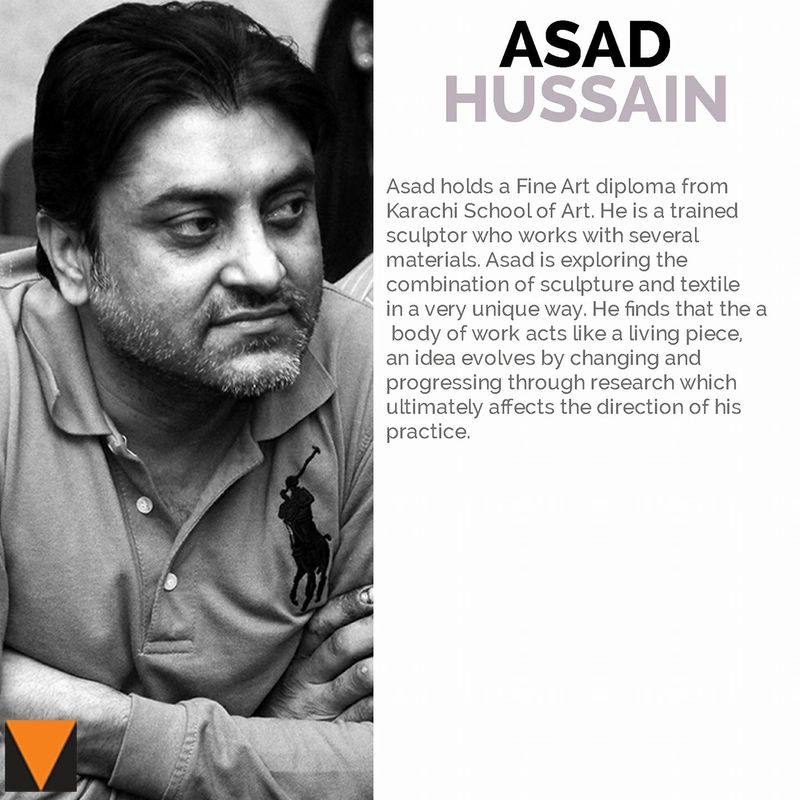 Asad Hussain | The Thread Unraveled | VM Art Gallery | Karachi Pakistan, 2017
